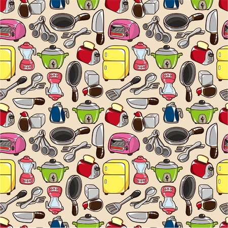 seamless kitchen pattern Stock Vector - 9055883