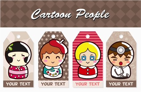 cartoon people card Vector