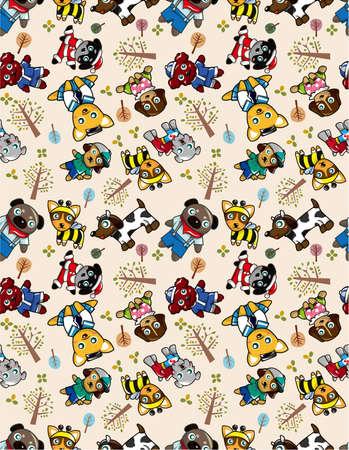 seamless dog pattern Vector
