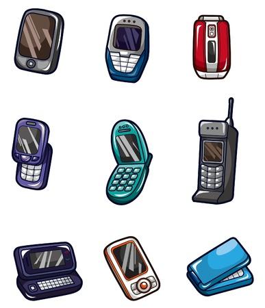 cartoon mobile phone icon Vector
