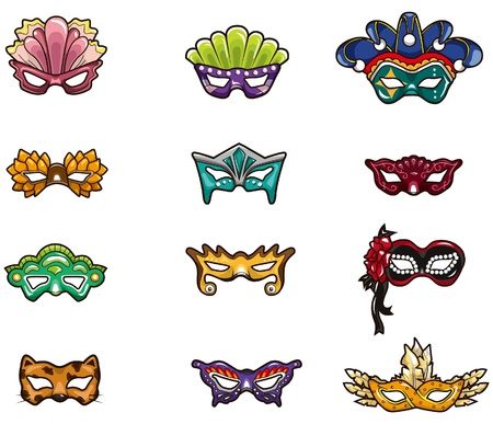 beauty mask: cartoon party mask icon