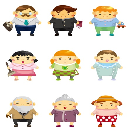 cartoon family icon Stock Vector - 9055904
