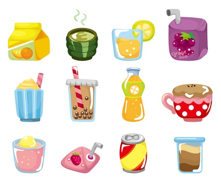 cold coffee: cartoon drink icon