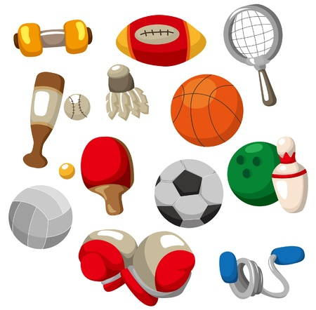 cartoon Sport objects icon Vector
