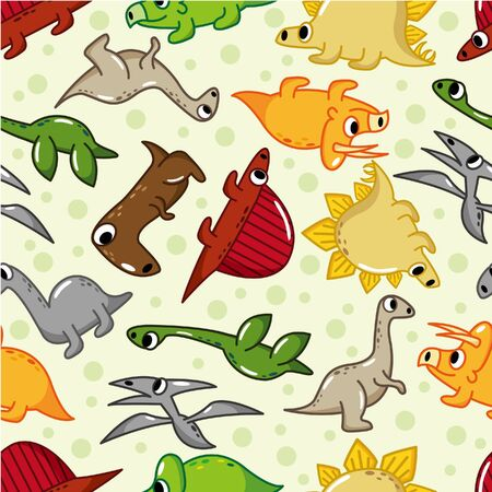 pattern monster: seamless dinosaur pattern