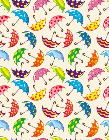 seamless umbrella pattern Stock Vector - 9055929