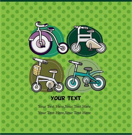 cartoon bike card Vector