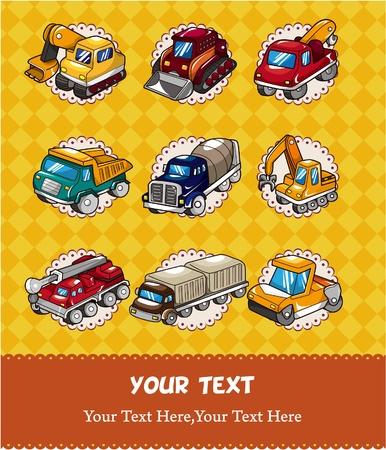 cisterns: cartoon truck card