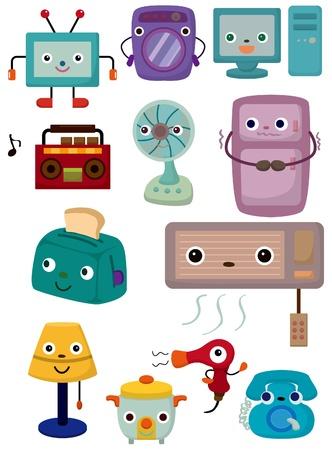 saubere luft: Cartoon Home Appliances Symbol