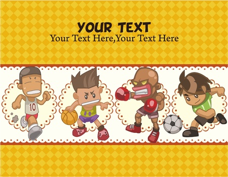cartoon sport card Illustration