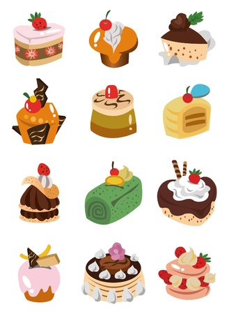 muffins: cartoon cake icon