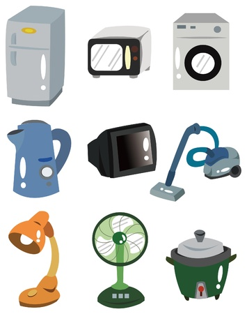 home appliances: icono de electrodom�sticos de dibujos animados Vectores