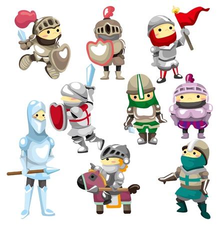 cartoon soldat: Cartoon Knight-Symbol Illustration