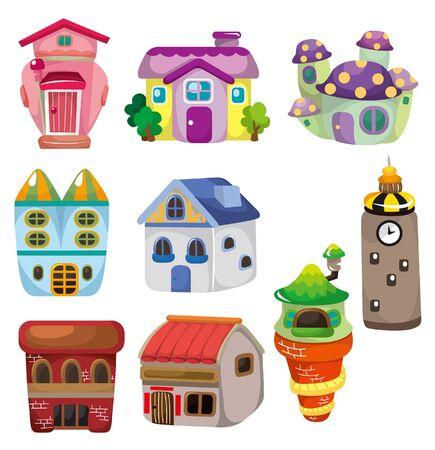 casita de dulces: icono de la casa de dibujos animados