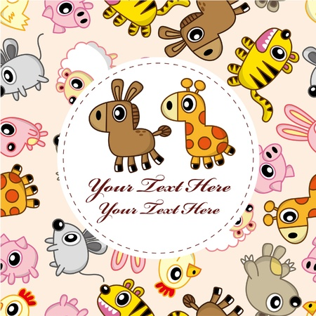 cartoon animal card Stock Vector - 9109644