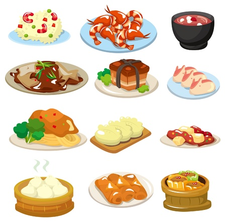 cartoon chinese food icon Vector