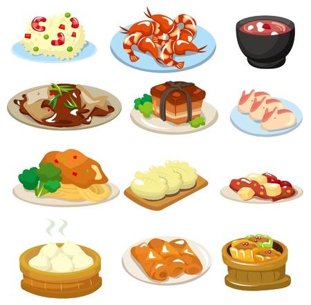 eating food: icona di cibo cinese del cartone animato