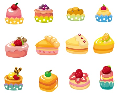 cartoon cake: cartoon cake icon