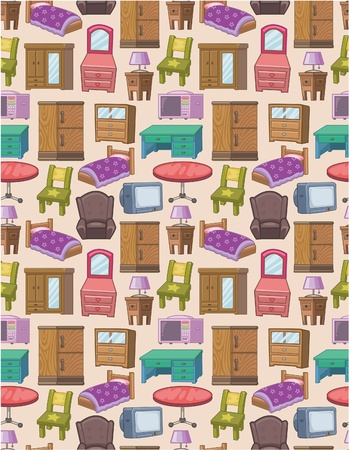 seamless furniture pattern Vector