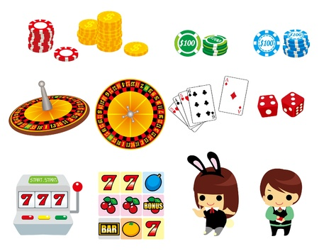 cartoon casino icon Stock Vector - 9109651