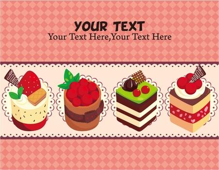 만화 케이크 카드