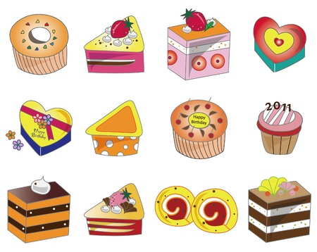 cartoon cake icon Stock Vector - 9109660