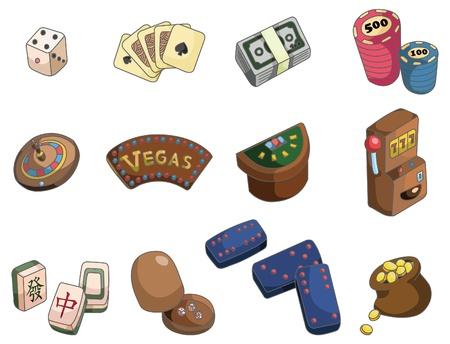mahjong: cartoon casino icon
