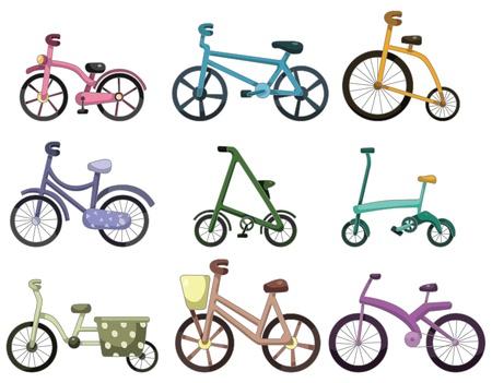 cartoon bicycle icon Stock Vector - 9148217
