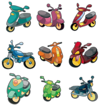 recreational vehicle: cartoon motorcycle icon