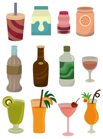 cartoon drink icon Vector