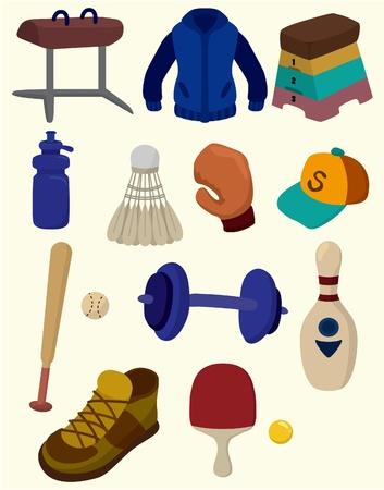 gym equipment: Cartoon icona Sporting Goods Vettoriali
