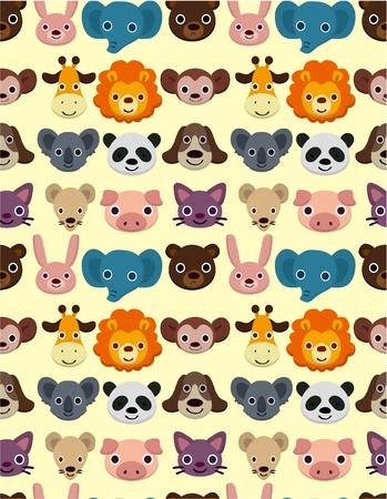 seamless animal face pattern Illustration