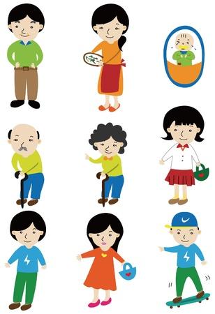 Cartoon Familie Symbol