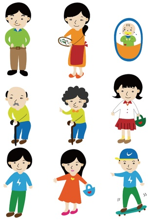 cartoon family icon  Stock Vector - 9148315