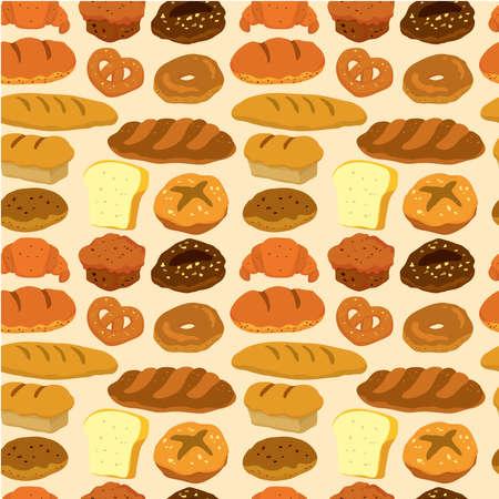 seamless bread pattern  Stock Vector - 9148320