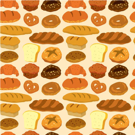 seamless bread pattern Stock Vector - 9148320