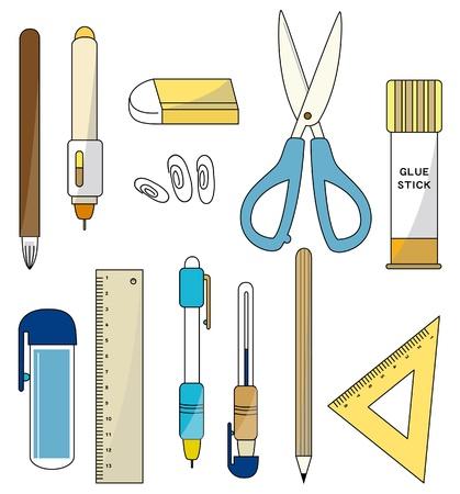 pegamento: icono de papeler�a de dibujos animados Vectores