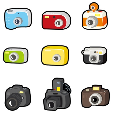 digital camera: cartoon camera icon  Illustration