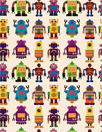seamless Robot pattern  Vector