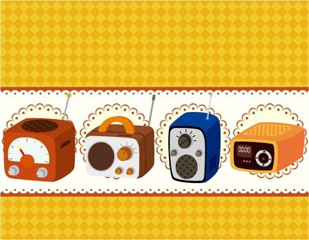 cartoon radio card  Vector