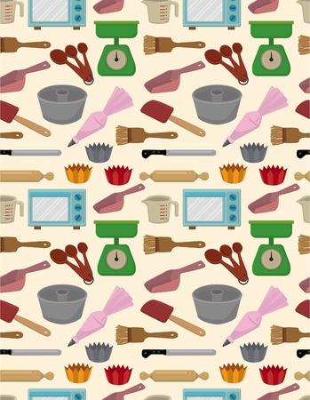 seamless bake tool pattern  Vector