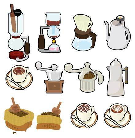 cartoon coffee icon Vector