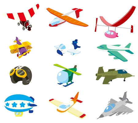 cartoon airplane icon Illustration