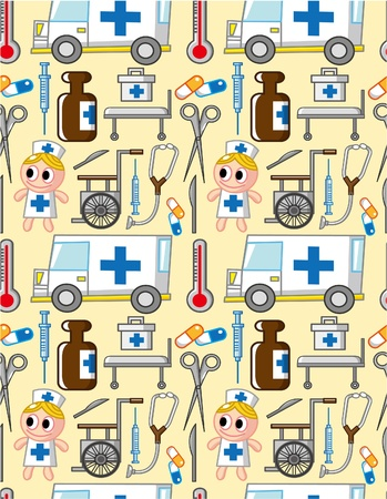 seamless hospital pattern  Vector