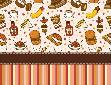 fast food restaurant card Vector