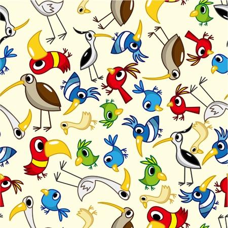 seamless bird pattern Stock Vector - 9190586