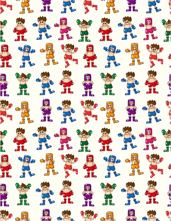 seamless boxer pattern  Vector