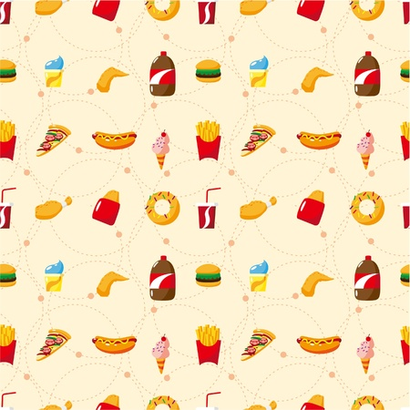seamless fast food pattern Stock Vector - 9221254