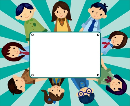 cartoon student card  Vector