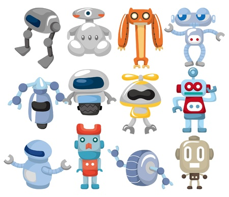 cartoon robot icon  Vector